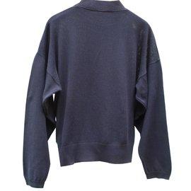 Hermès-Pulls, Gilets-Bleu Marine