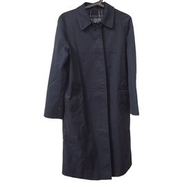 Burberry-Coats, Outerwear-Navy blue