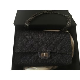 Chanel-Handbags-Navy blue