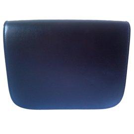 Céline-Classic bag in black liege leather-Black