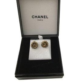 Chanel-Superbe puces Chanel vintage-Doré