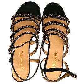 Chanel-Sandales-Noir