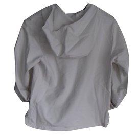 Burberry-sweatshirt à capuche-Blanc