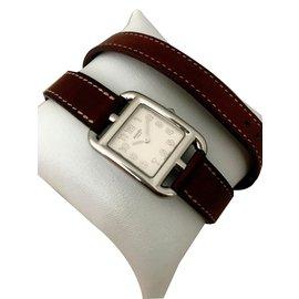 Hermès-Montre Cape Cod-Blanc