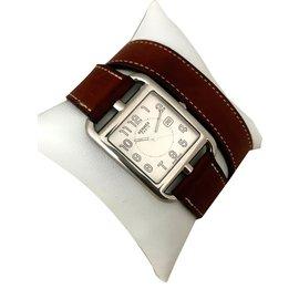 Hermès-Montre Cape Cod GM-Blanc