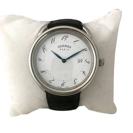 Hermès-Montre Arceau-Blanc