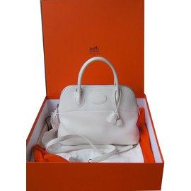 Hermès-Sac Bolide-Blanc