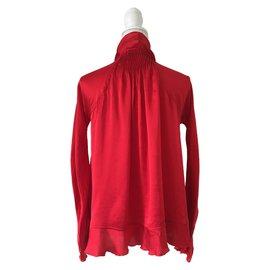 Yves Saint Laurent-YVES SAINT LAURENT Bluse-Rot
