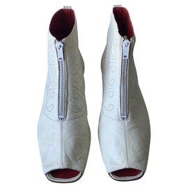 Céline-CELINE Boots-White