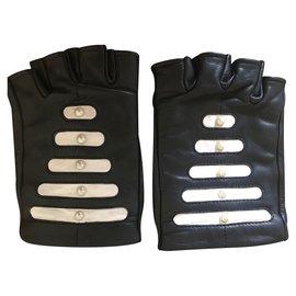 Chanel-CHANEL  Gloves-Black,White