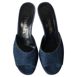 Chanel-CHANEL Sandales-Bleu
