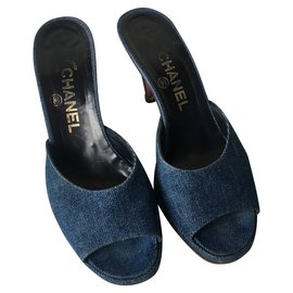 Chanel-CHANEL Sandals-Blue
