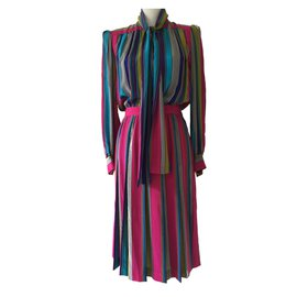 Yves Saint Laurent-YVES SAINT LAURENT  Robe-Multicolore