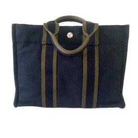 Hermès-Sac Fourre tout pm-Bleu Marine