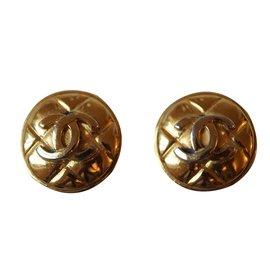 Chanel-Boucles d'oreilles Vintage-Doré