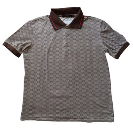 Gucci-Polo shirt-Marron