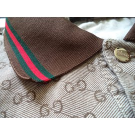 Gucci-Polo shirt-Marron