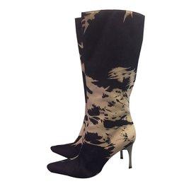 Céline-Boots-Blue