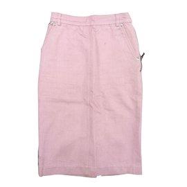 Yves Saint Laurent-Jupe longue pastel. Yves Saint Laurent. t36-Rose