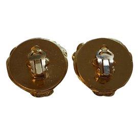 Chanel-Boucles d'oreilles vintages clips-Doré