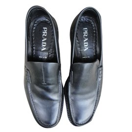 Prada-Loafers Slip ons-Black