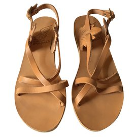Ancient Greek Sandals-Sandales-Noisette
