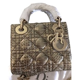 Dior-Lady Dior mini-Imprimé python