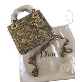 Dior-Lady Dior mini-Python print
