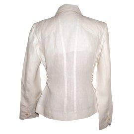 Hermès-Vestes-Blanc,Beige