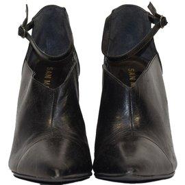 Autre Marque-SAN MARINA LOW BOOTS NOIRS T.38 UK 5-Noir