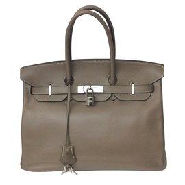 Hermès-Birkin 35-Gris