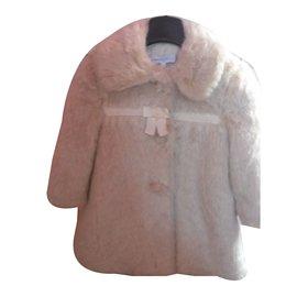 Tartine et Chocolat-Blousons, manteaux filles-Blanc cassé