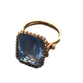 Autre Marque-Bague Vintage-Bleu