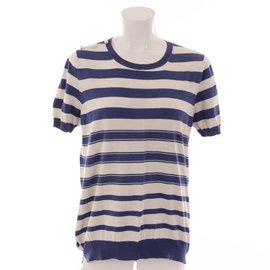 Louis Vuitton-TS marinière-Blanc,Bleu