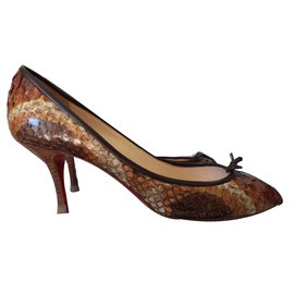 Christian Louboutin-Escarpins-Marron
