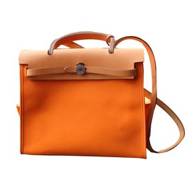 Hermès-Sac à main-Orange