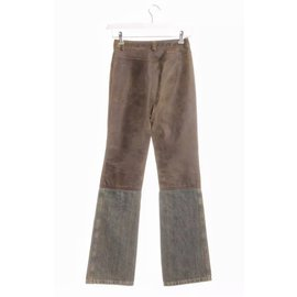 Chanel-Pants, leggings-Brown,Blue