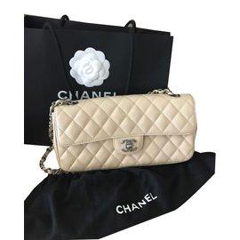 Chanel-Sac à main-Écru
