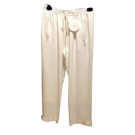 Chloé-Pants, leggings-White