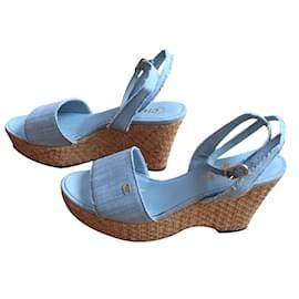 Chanel-Sandales-Bleu