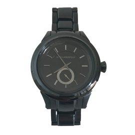 Karl Lagerfeld-Uhren-Schwarz
