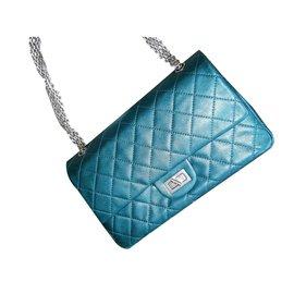 Chanel-2.55-Bleu,Vert,Métallisé