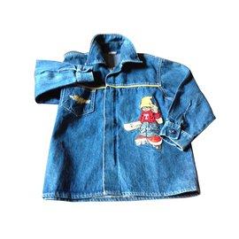 Autre Marque-Blousons, manteaux garçon-Bleu