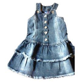 Autre Marque-Rock&Roll Robe fille-Bleu