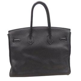 Hermès-BIRKIN 35 TOGO NOIR ACCESSOIRES DORES-Noir