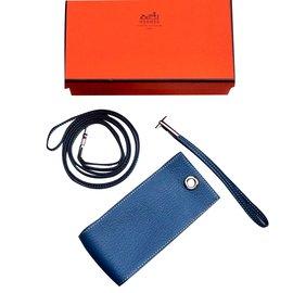 Hermès-Hermes cigarette case-Blue
