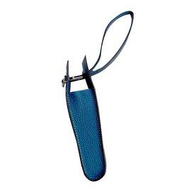 Hermès-Etui à cigarettes Hermès-Bleu