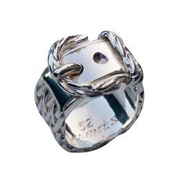 Hermès-Ring Sellier-Silvery