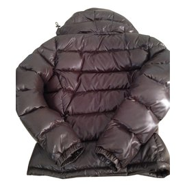 Moncler-Coats, Outerwear-Dark brown