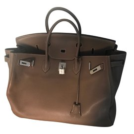 Hermès-Sac à main-Marron